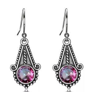 Jewelry - Sale🎊 Boho silver Mystic fire topaz earrings